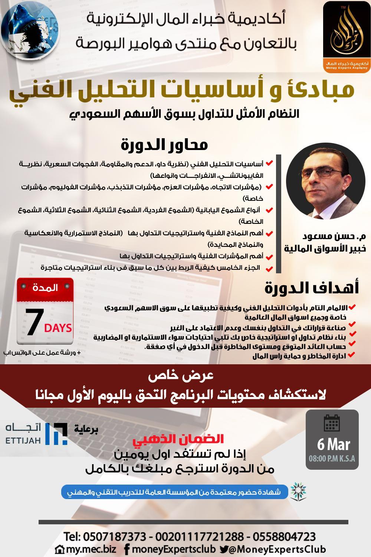 إحترافية التحليل الفني فى السوق السعودي يقدمها م.حسن مسعود 6 مارس