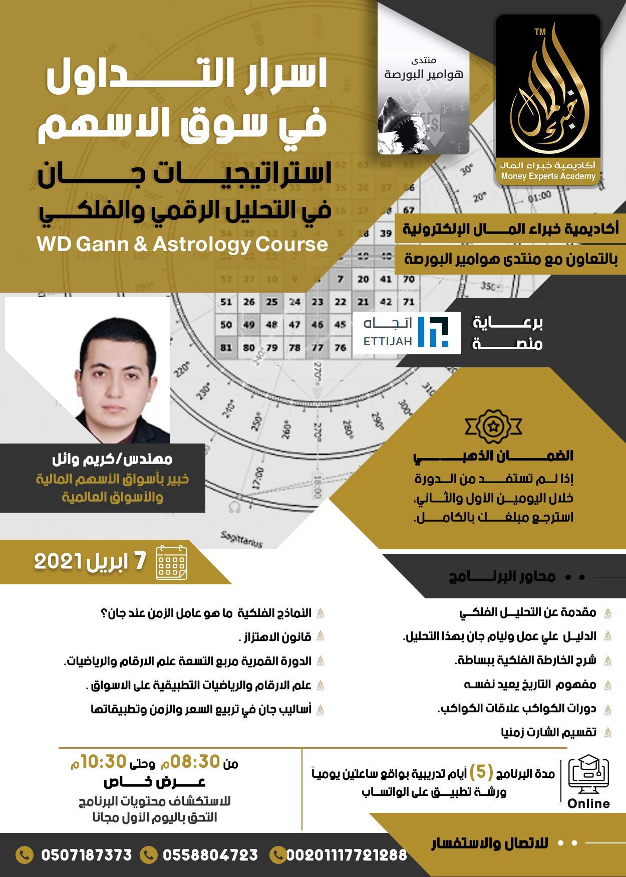 دورة استراتيجية جان في التحليل الرقمي و الفلكي يقدمها م.كريم وائل  7 April