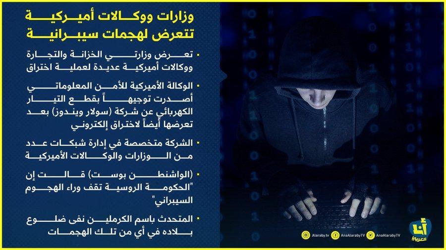هجوم إلكتروني واسع النطاق يستهدف إدارات ومنشآت أمريكية