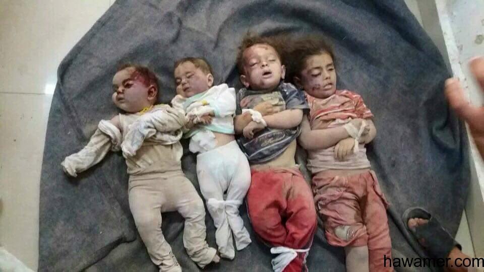 تجديد الهدنة...طيران بوتين يرتكب مجزرة ضحاياها اطفال ادلب