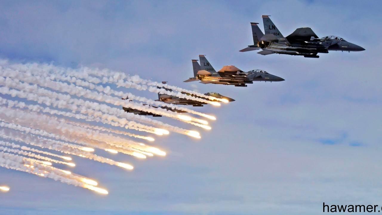 سلاح الطيران يدمر آليات ومركبات للحوثيين حدود السعودية