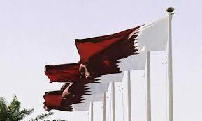 رفع علم قطر في السفارة القطرية في الرياض