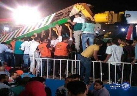 سقوط لعبة ملاهي أثناء تشغليها (صور)
