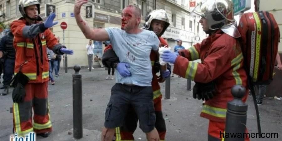 الادعاء الفرنسي:الروس المشاركون أعمال الشغب بفرنسا مدربون الاشتباكات!!