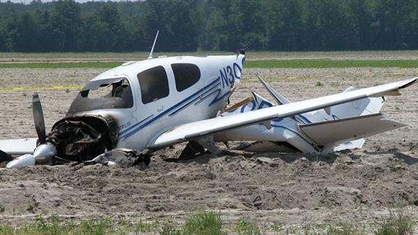 مقتل 4 أشخاص بحادثة سقوط طائرة  جنوب مطار دبي