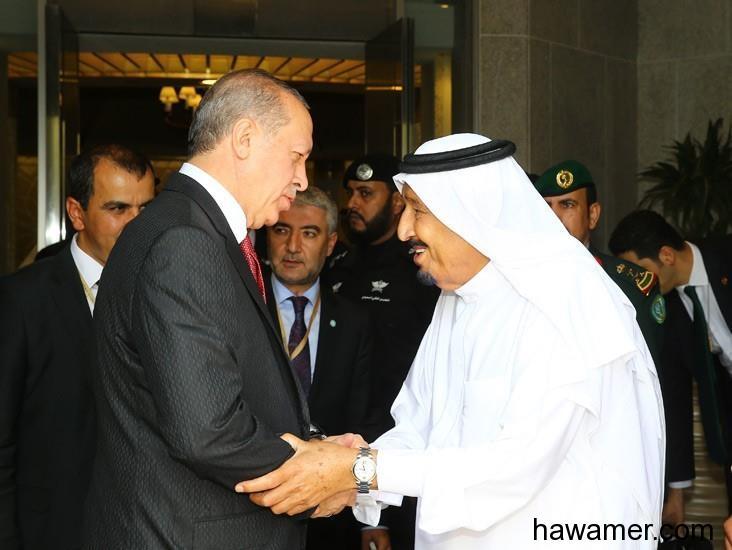 خادم الحرمين الشريفين يستقبل الرئيس التركي أردوقان
