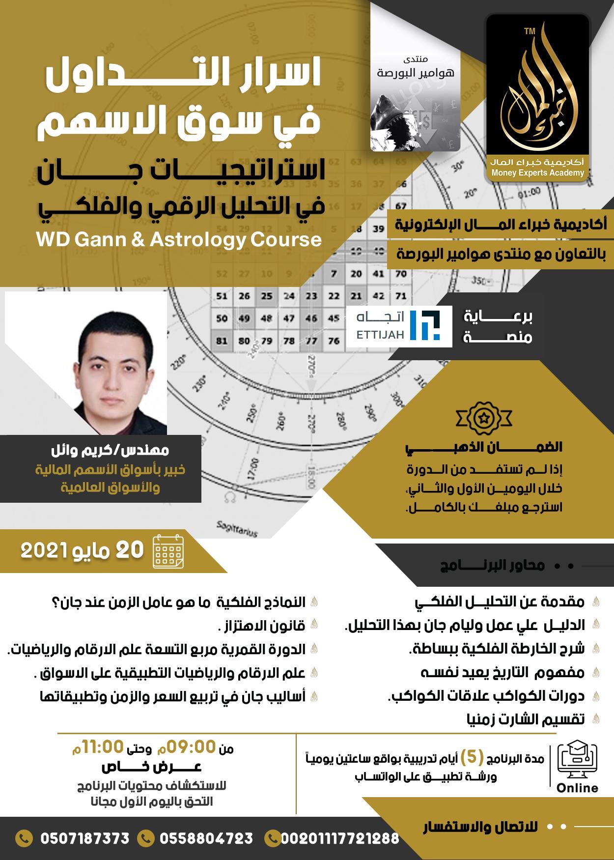 دورة استراتيجية جان في التحليل الرقمي و الفلكي يقدمها م.كريم وائل  20 مايو