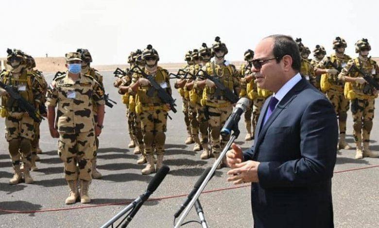 الرئيس السيسي يدعو الجيش ....