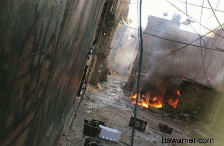 اشتباكات بالاسلحة اتباع المتعة اللبناني ومخيم البراجنة الفلسطيني