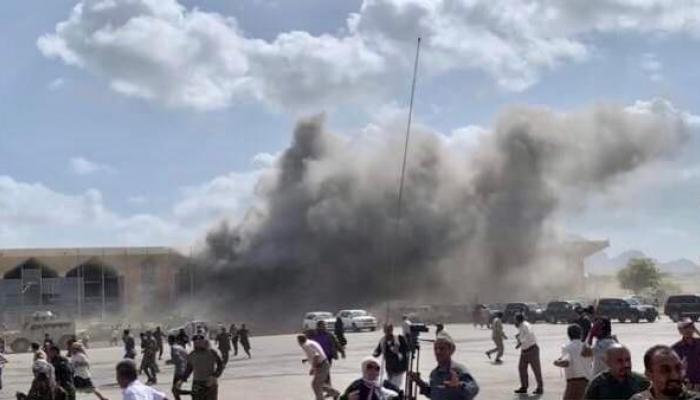 ما أحد جاب طاري إنفجارات مطار عدن!!