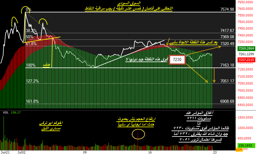 متابعة السوق السعودي الاسبوع القادم والله اعلم