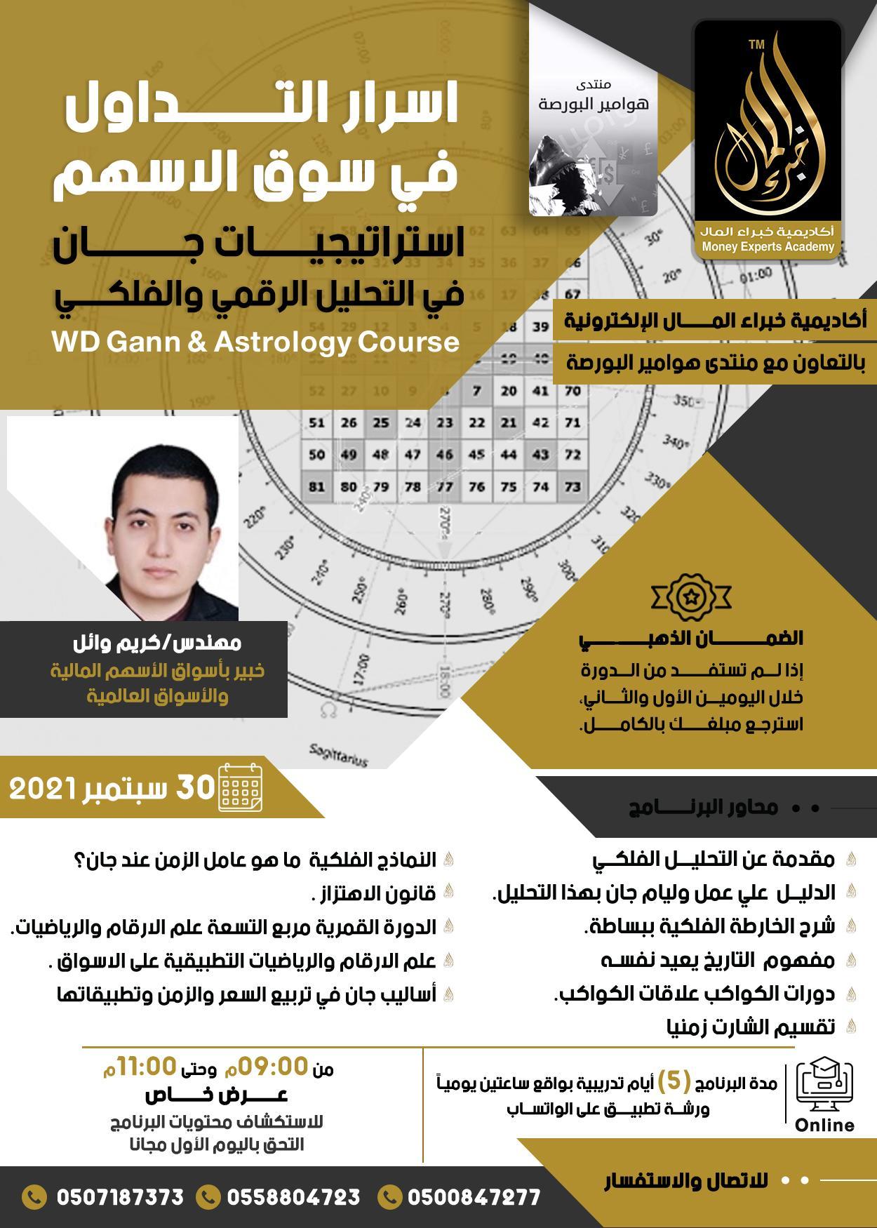 دورة استراتيجية جان في التحليل الرقمي و الفلكي يقدمها م.كريم وائل 30 سبتمبر